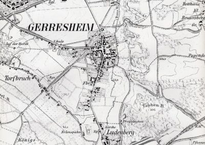 Historische Karte Gerresheim