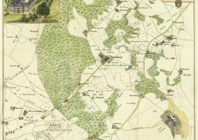 Karte über die Güter des Peter Stommel 1843